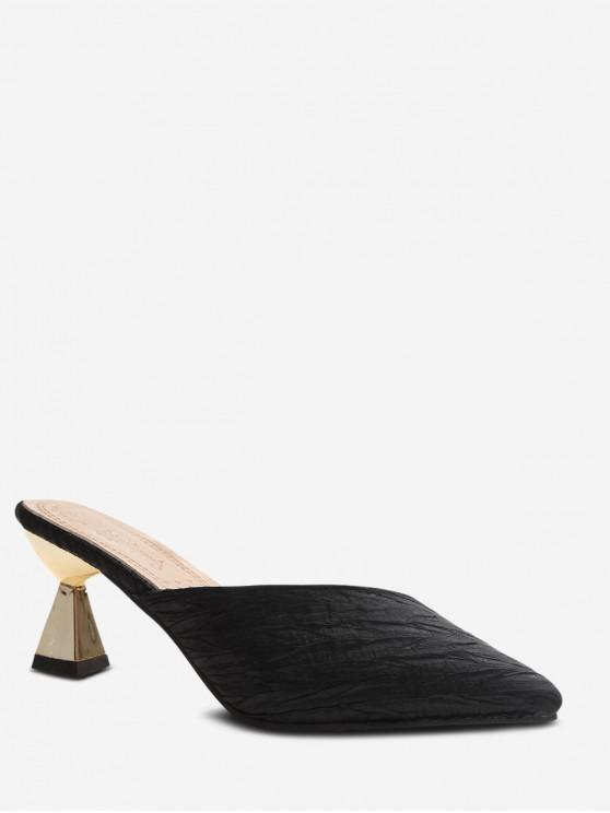 hot Pointed Toe Patch Slip On Pumps - BLACK EU 40