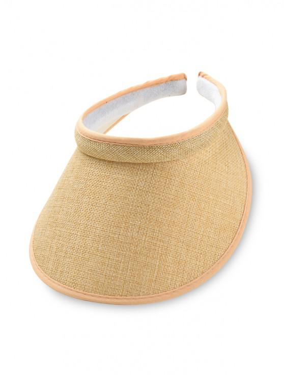 shops Straw UV Protection Visor Cap - CORN YELLOW