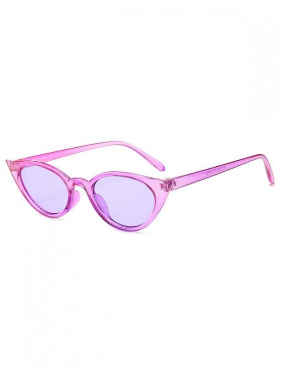 shop Irregular Shape Stylish Sunglasses - HELIOTROPE PURPLE REGULAR