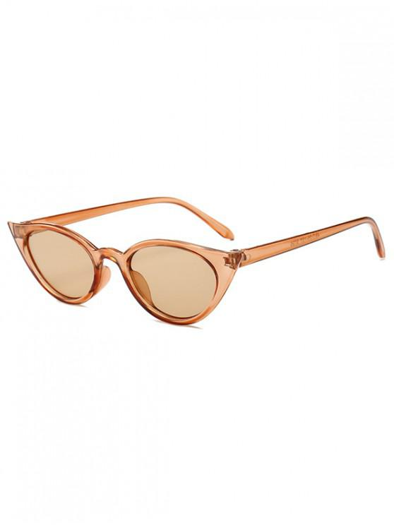 trendy Irregular Shape Stylish Sunglasses - CAMEL BROWN REGULAR