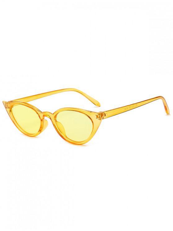 unique Irregular Shape Stylish Sunglasses - GOLDENROD REGULAR