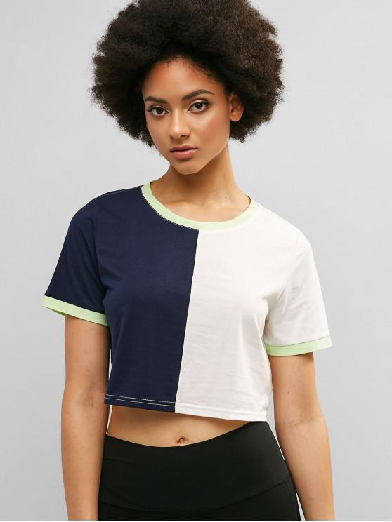 fd1c78b61a42 30% OFF] 2019 ZAFUL Contrast Trim Color Block Ringer Tee In MULTI-A ...