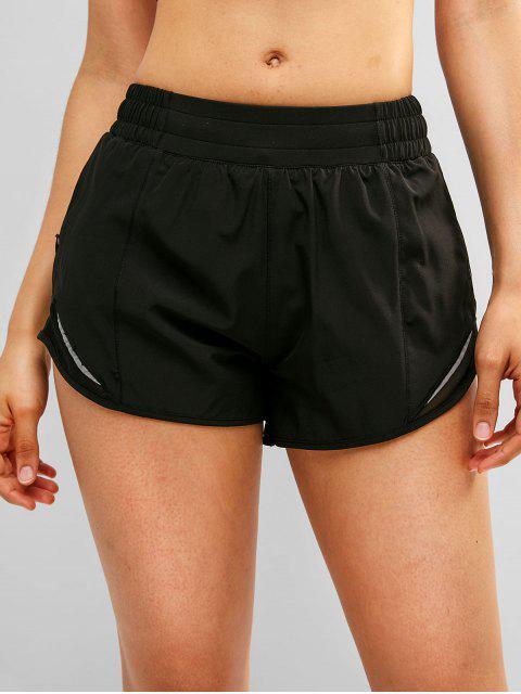 Pantalones cortos de bolsillo con diseño reflectante de inserción de malla - Negro XL Mobile