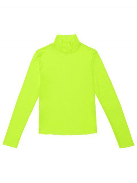 Camiseta de neón de malla con cuello alto ZAFUL - Verde Menta S Mobile