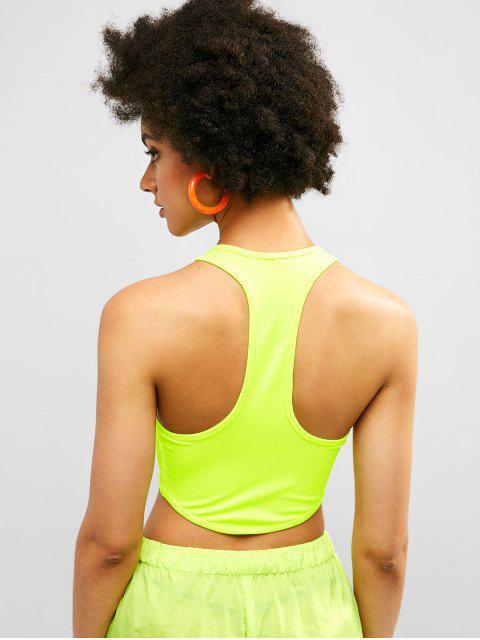 Camiseta sin mangas con espalda cruzada de Racerback de Neon - Té Verde M Mobile