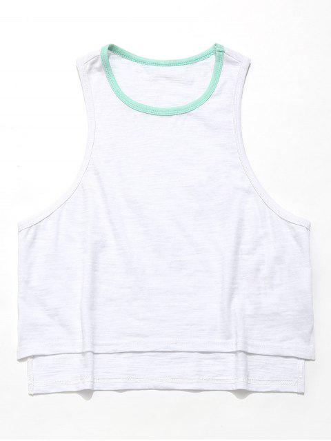 ZAFUL High Low Slit Casual Tank Top - Blanco S Mobile