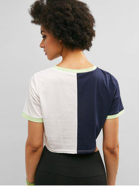 ZAFUL Contrast Trim Color Block Ringer Tee - Multicolor-A L Mobile