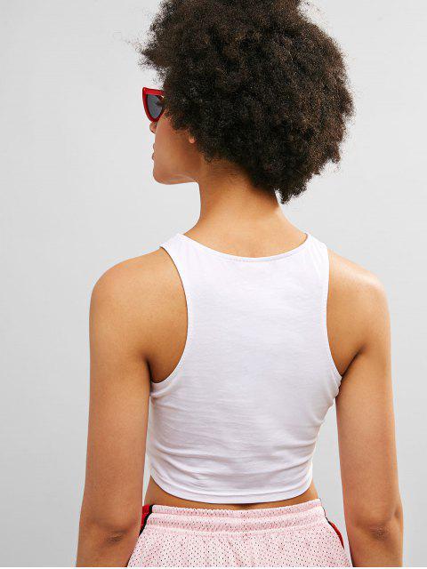 ZAFUL Cut Out Crop Gym camiseta de tirantes - Blanco L Mobile