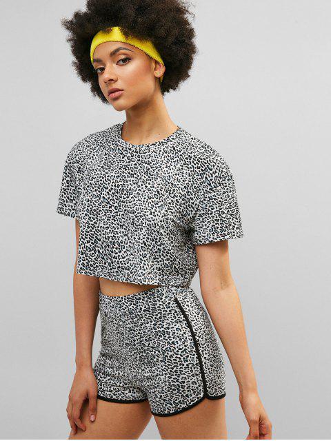 Conjunto de camiseta y pantalones cortos de leopardo ZAFUL - Leopardo S Mobile