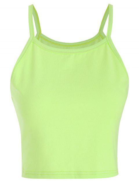 Camisola cortada ZAFUL - Verde Amarillo L Mobile