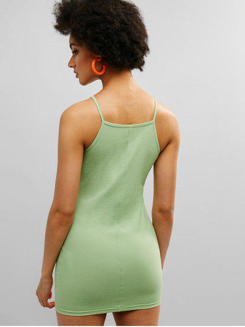 Mini vestido ajustado con correa de espagueti de ZAFUL - Guisantes Verdes L Mobile