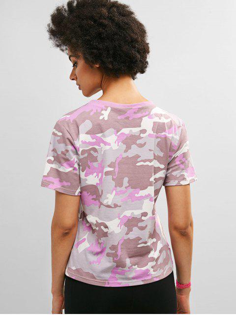 Camiseta estampada de camuflaje de manga corta ZAFUL - ACU Camuflaje M Mobile