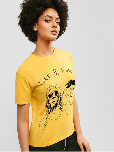 Camiseta de manga corta con gráfico - Caucho Ducky Amarillo L Mobile