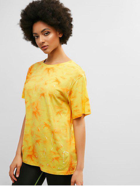 ZAFUL Tie Dye Boyfriend Túnica Camiseta - Multicolor M Mobile