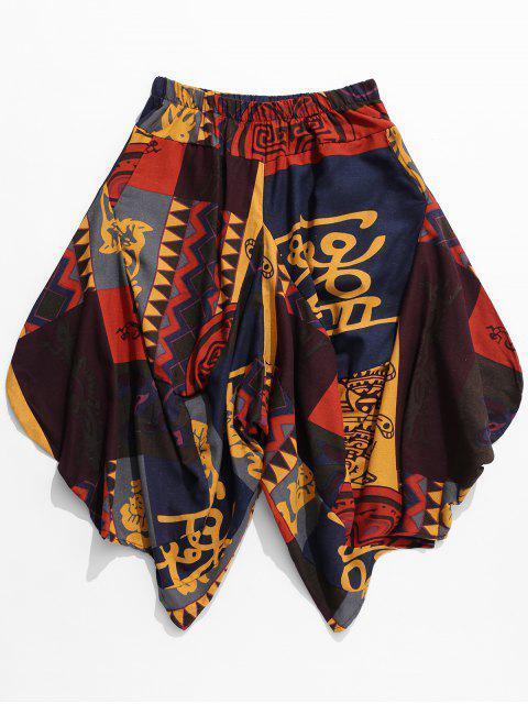 Pantalones Harem Casual Estampados Tribales - Multicolor 2XL Mobile
