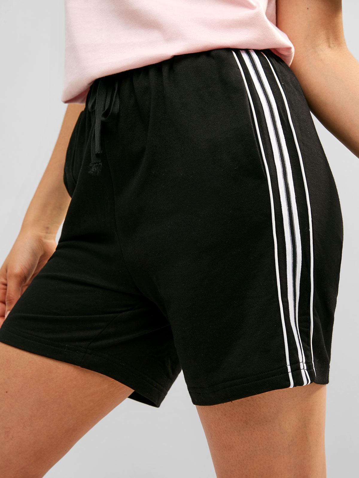 Contrast Drawstring Pocket Sweat Shorts