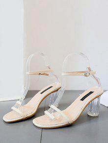 Clear Heel Transparent Mid Heel Sandals