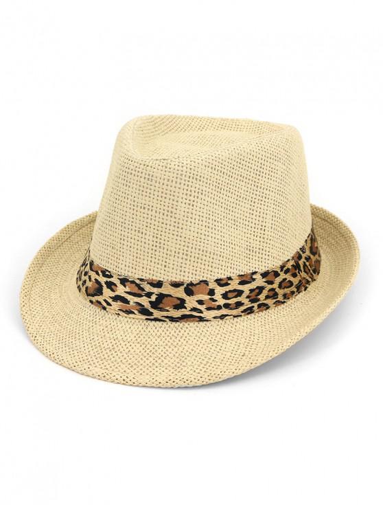 shops Unisex Straw Jazz Hat - LEOPARD