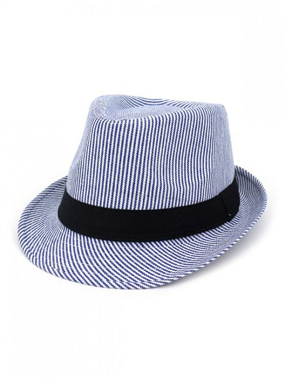 lady Unisex Striped Jazz Hats - BLUE