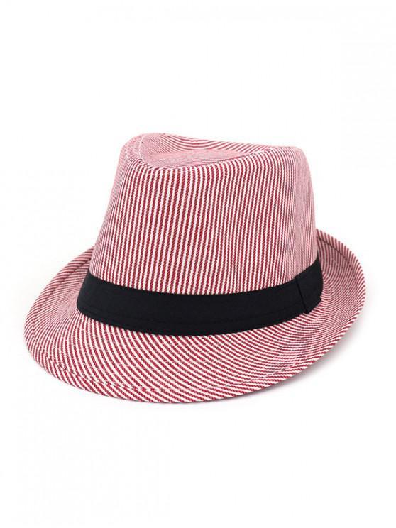 online Unisex Striped Jazz Hats - RED