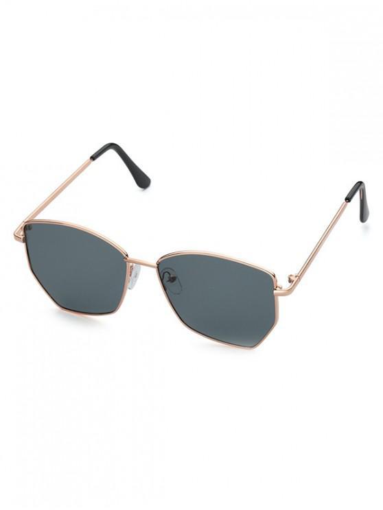 Gafas de Sol Irregulares Metálico - Gris