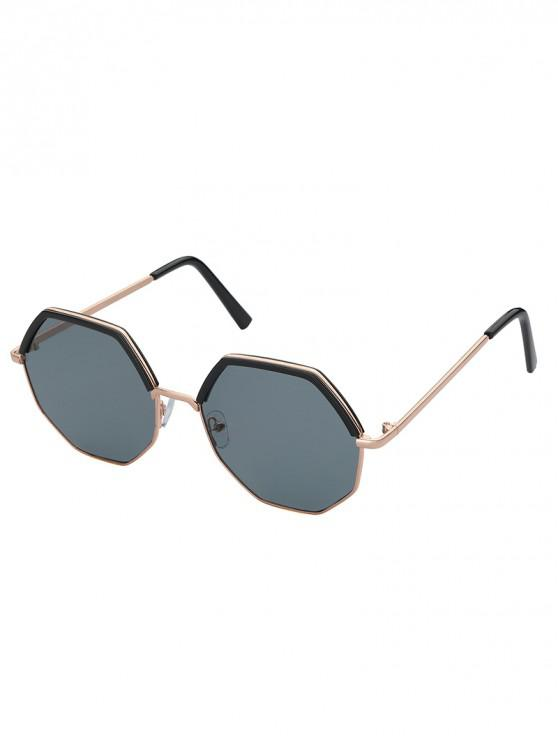 shops Irregular Metal Polarized Sunglasses - GRAY