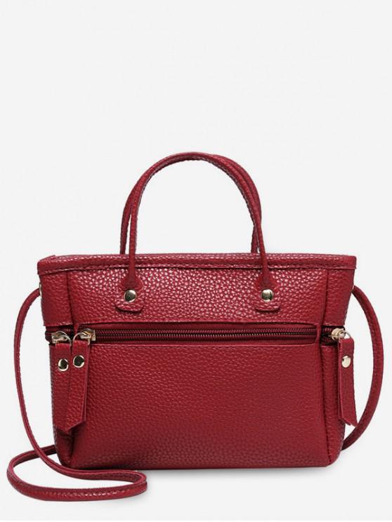 best Zipper Small Cross Body Bag - RED WINE