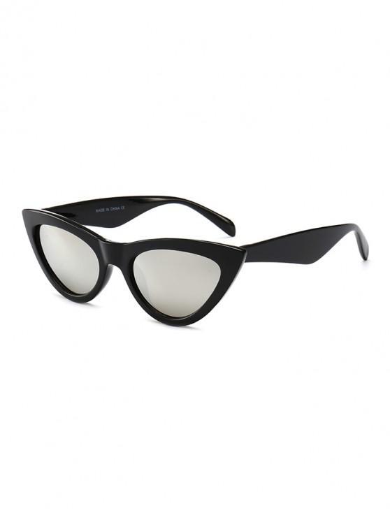 lady PC Kitty Eye Sunglasses - SILVER REGULAR