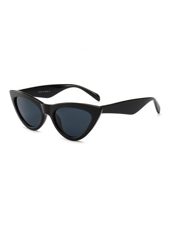 trendy PC Kitty Eye Sunglasses - BLACK REGULAR