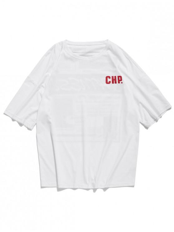 Camiseta de manga corta con estampado de Swear - Blanco 3XL