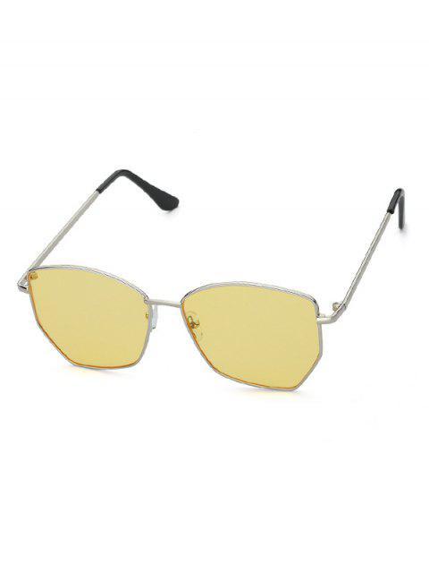 Нерегулярные Металлические Солнцезащитные Очки - Жёлтый  Mobile