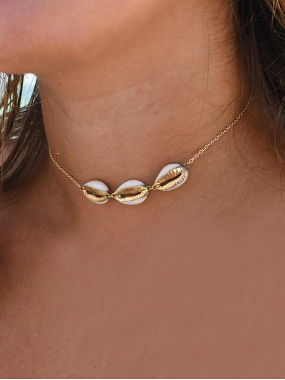 chic Shell Shape Link Chain Necklace - GOLD