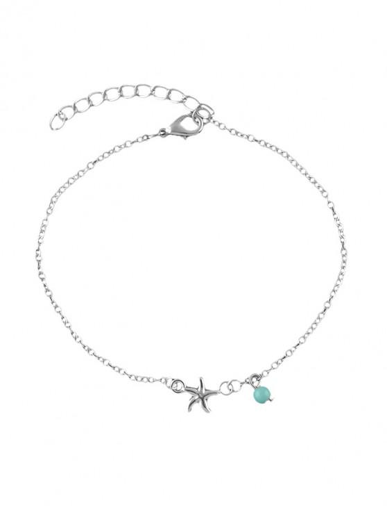 online Turquoise Design Chain Anklet - SILVER