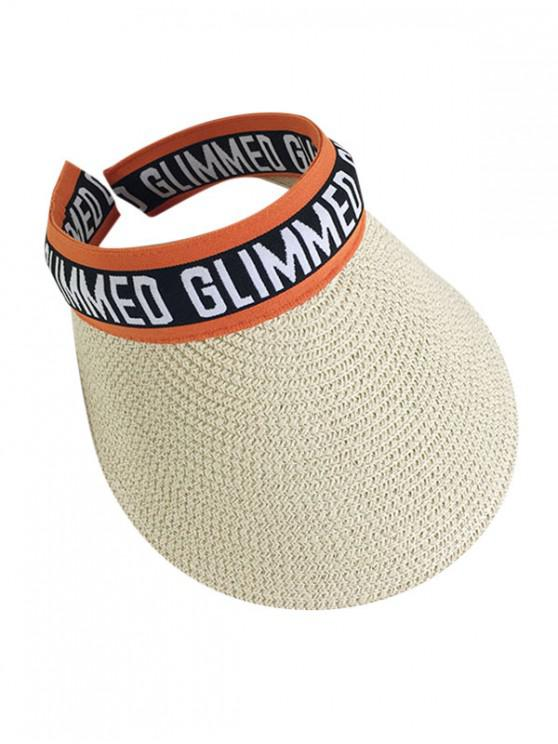 women's Letter Graphic Straw Visor Hat - PUMPKIN ORANGE
