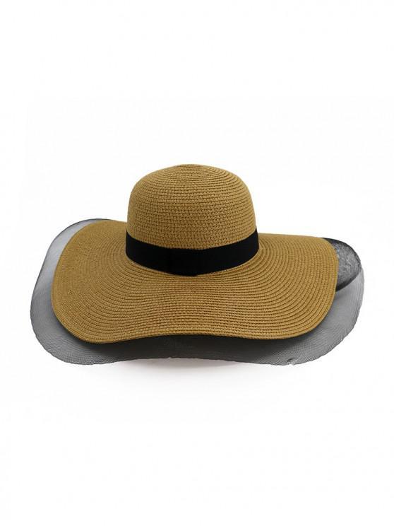 e7dea567bc1823 29% OFF] 2019 Mesh Floppy Straw Sun Hat In KHAKI | ZAFUL Israel
