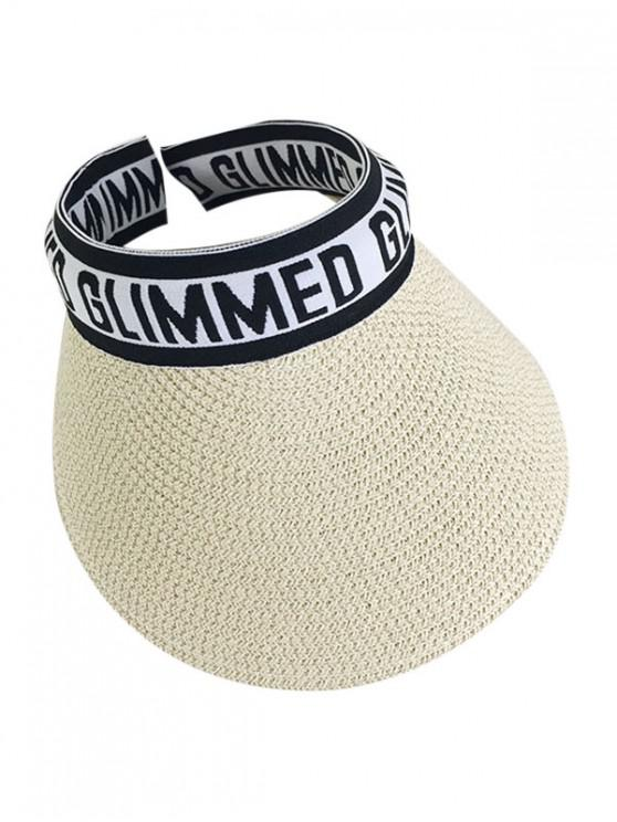 outfits Letter Graphic Straw Visor Hat - BLACK