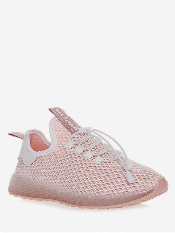 unique Lace-up Design Breathable Sport Shoes - PINK EU 36