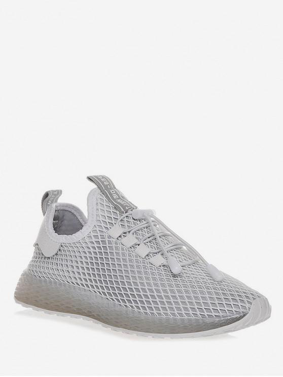 affordable Lace-up Design Breathable Sport Shoes - GRAY EU 37