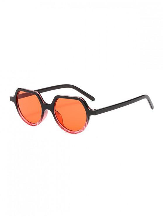 latest Irregular Anti UV Outdoor Sunglasses - BEAN RED REGULAR
