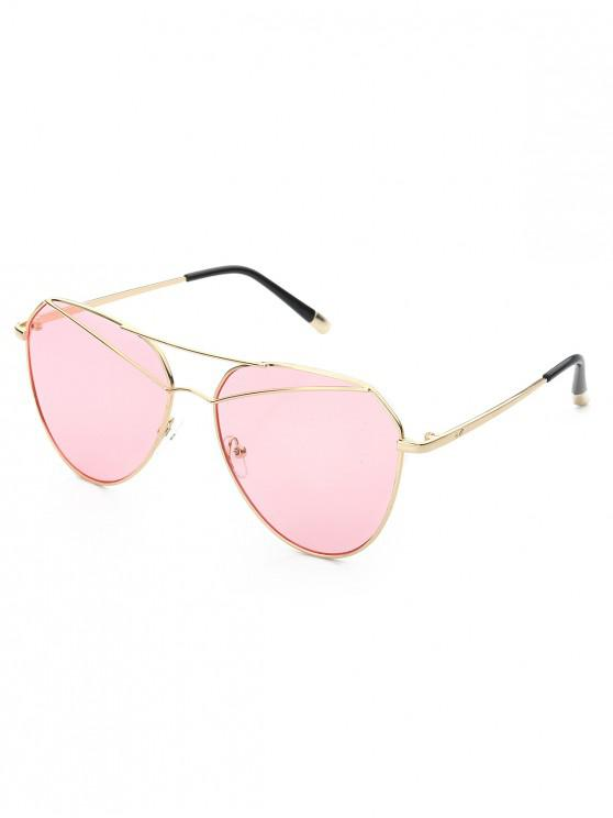 womens Metal Vintage Bar Pilot Sunglasses - LIGHT PINK