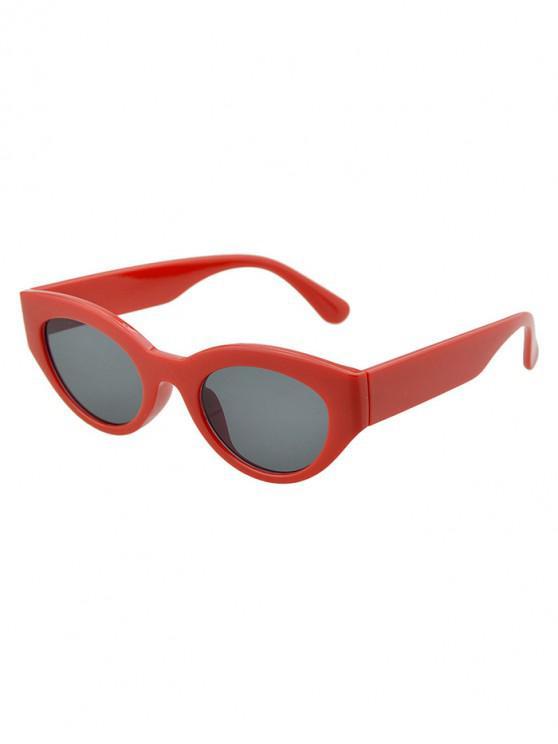 ladies Punk Oval Beach Sunglasses - LAVA RED