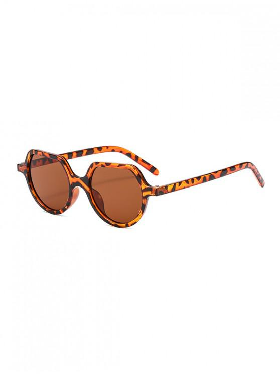 shops Irregular Anti UV Outdoor Sunglasses - LIGHT BROWN REGULAR
