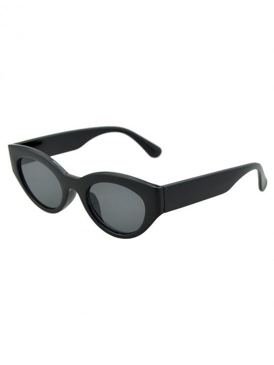 ladies Punk Oval Beach Sunglasses - BLACK