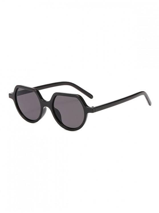 fashion Irregular Anti UV Outdoor Sunglasses - BLACK REGULAR