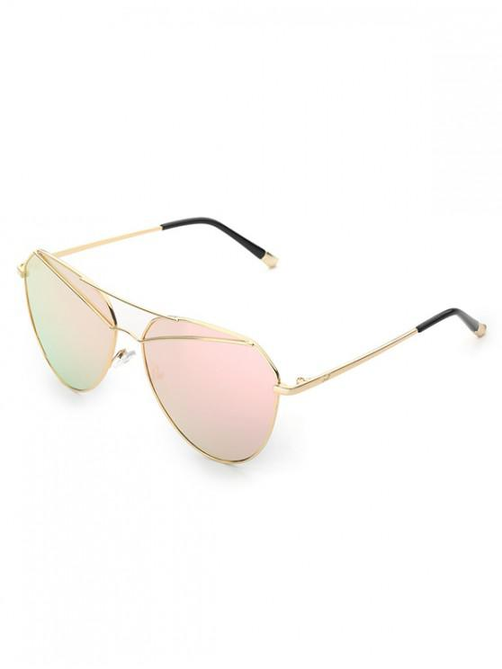 women's Metal Vintage Bar Pilot Sunglasses - PINK