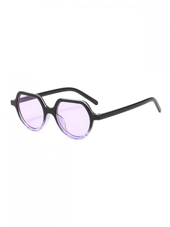best Irregular Anti UV Outdoor Sunglasses - LAVENDER BLUE REGULAR