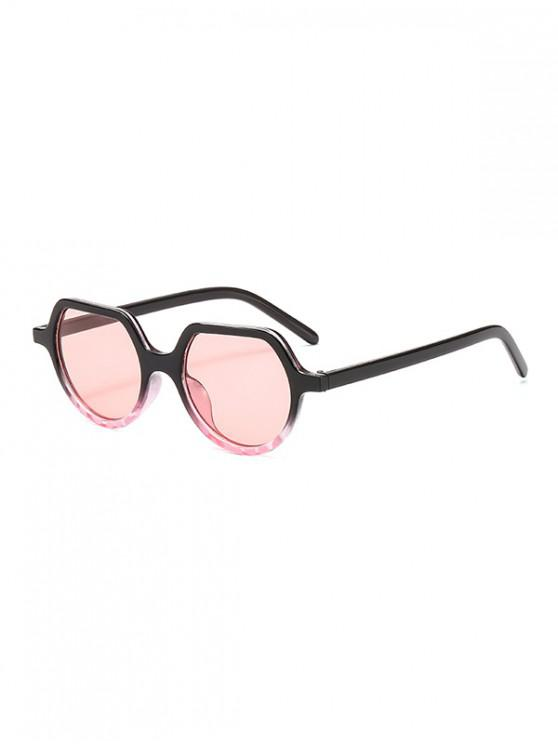 women's Irregular Anti UV Outdoor Sunglasses - PIG PINK REGULAR