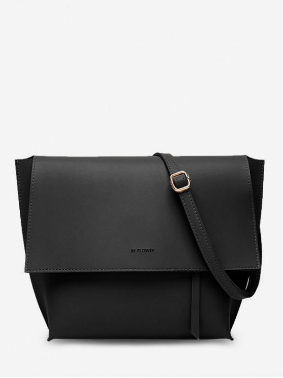 womens Ins Style Shoulder Bag - BLACK