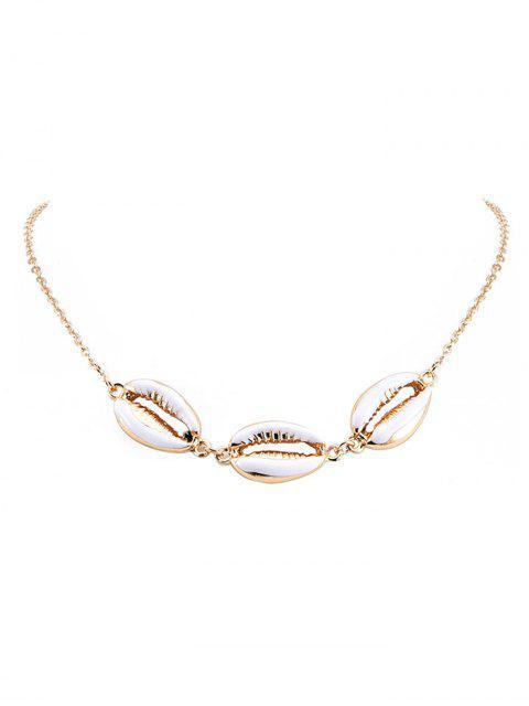 Форма раковины Цепное Ожерелье - Золотой  Mobile