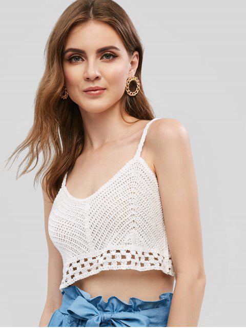 Praia Crochet Crochet Cami Top - Branco Um Tamanho Mobile